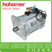 Low price High Performance Electric Car Conversion Kit Three phase Electric Car 72V AC motor 5KW