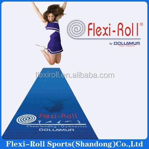 New type gymnastics mat/flexi roll cheerleading mat/rolling gym flooring