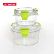 Liquid proof glass collapsible containers storage