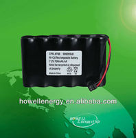 7.2v AA 700mah rechargeable ni-cd battery packs