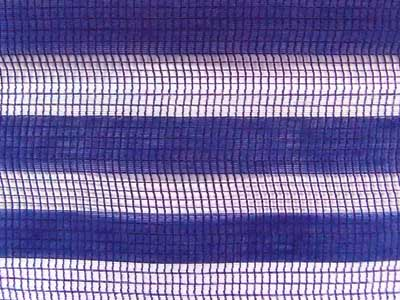 Blue and White Stripe Polyester Jacquard Fabric