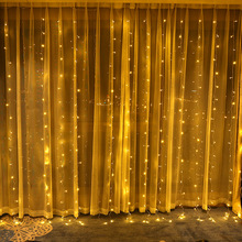 Twinkle Star 300 LED Window Curtain String Light with remote for Wedding Party Outdoor Indoor Wall Decorations