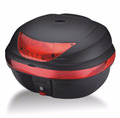 Super PP material black/red motobike top case in new design