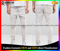 Bulk wholesale washed mens distressed jeans with custom service