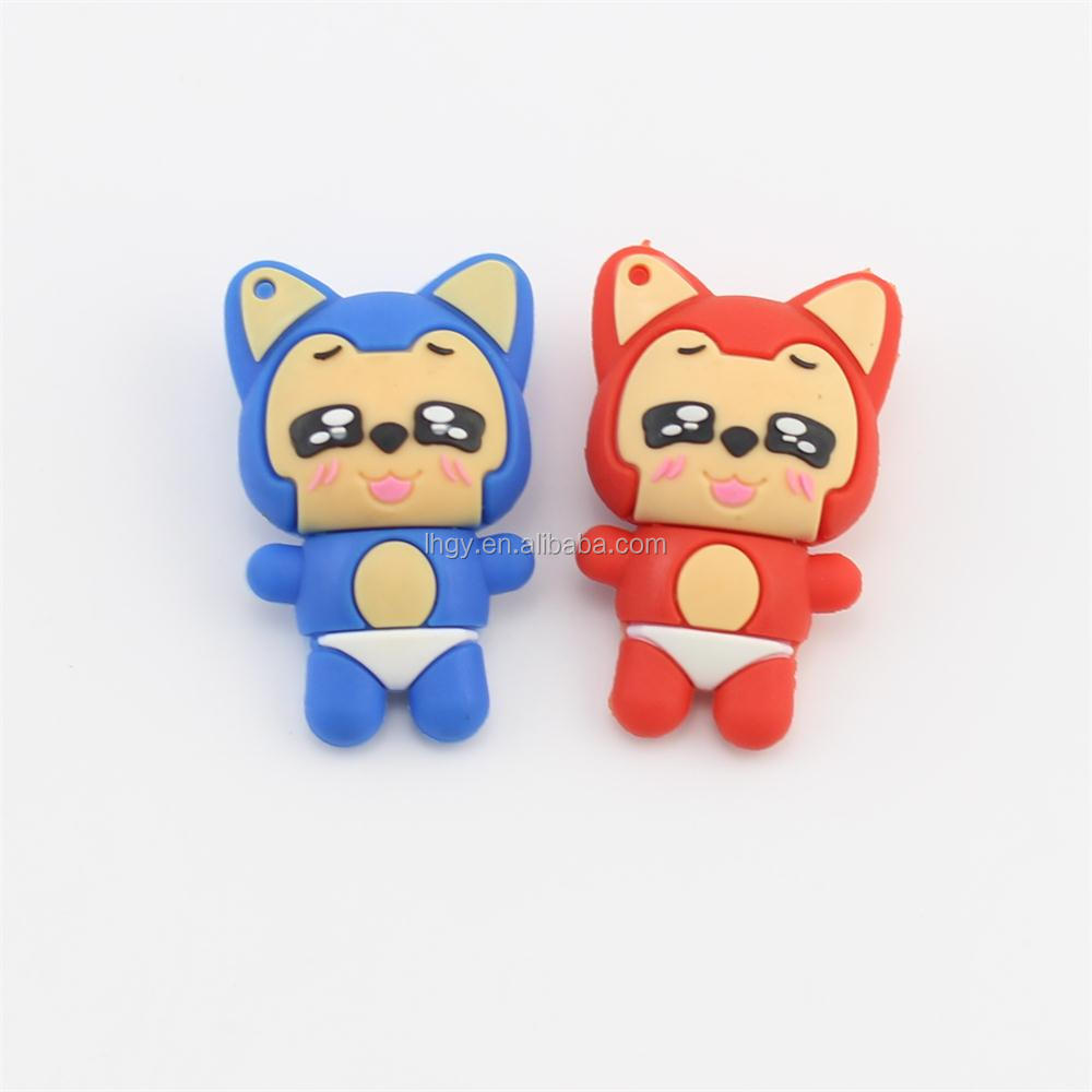 Cute animal shape usb memory stick cartoon fox usb flash drive 8gb