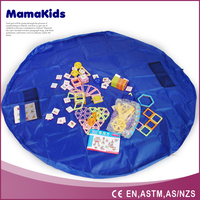 2016 Large Portable Kids Children Infant Baby Play Mat/Toys Storage Bags Organizer Quick Pouch/Outdoor Blanket Floor Activities