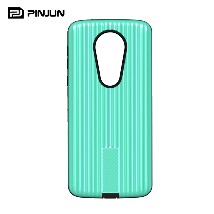 Reliable quality luggage shape pc tpu armor phone case for moto e5 plus back cover