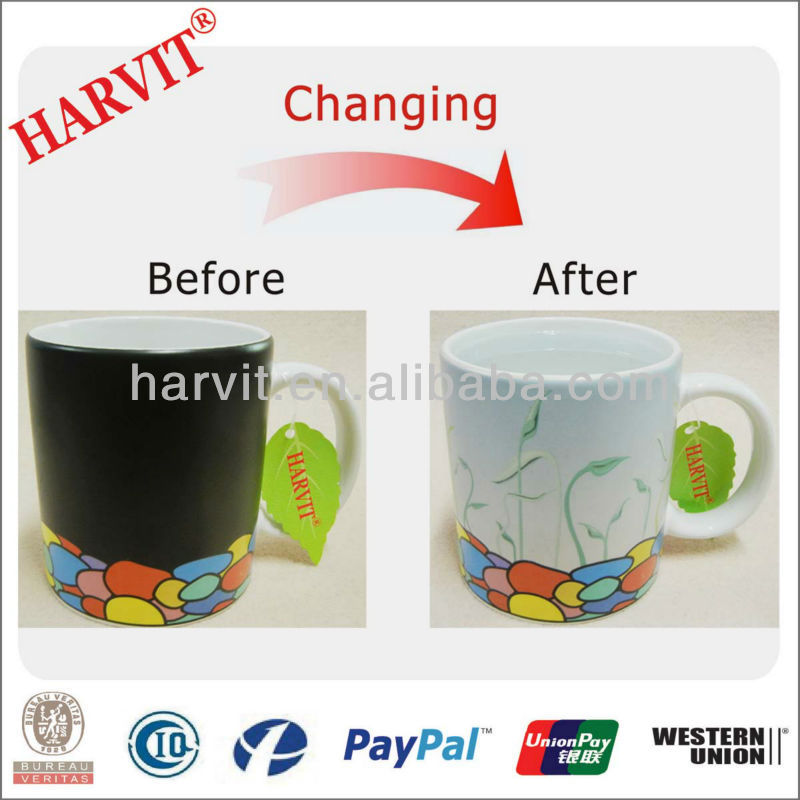 Promotional 11OZ Mug Sublimation /Wholesale Cups to Sublimation/Heat Sensitive Color Changing Mug