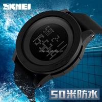 silicone black watch sport mens