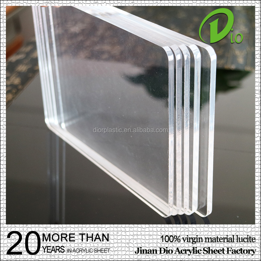 "flexible high gloss 2"" thick curved cast transparent clear plexiglass"
