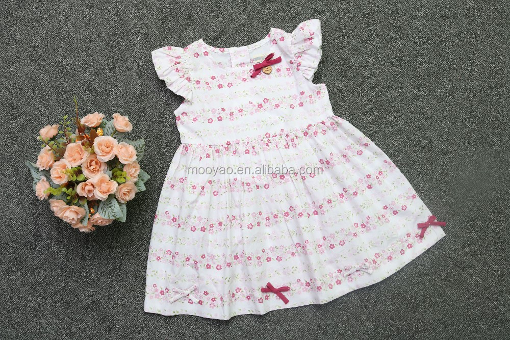 Wholesale Cap Sleeve children dress clothing cotton pink marie ...
