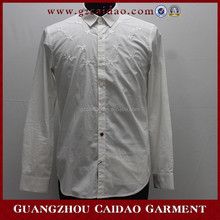 Wholesale cheap customized white formal dress shirt