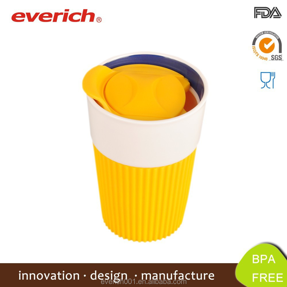 Everich Cheap Wholesale Porcelain Office Mug With Lid