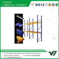 Hot sell 2015 cheapest 2 layer long span heavy duty steel warehouse racks systems, storage rack (YB-WR-C58)