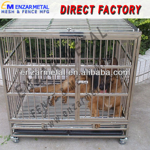 "24"" 30"" 36"" 42"" 48"" Steel Wire Dog Cage, Metal Pet Cage"