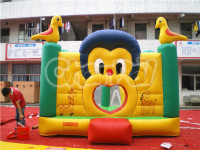 commercial durable monkey inflatable jumping castle, inflatable castle bouncer for toddlers