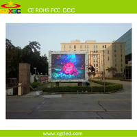 Outdoor p6 192*192mm RGB SMD3535 led interactive light board screen display scrolling advertising signs