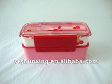 Food Grade PP plastic duble layer lunch box