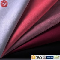 Artificial Suede for Sofa, Faux Suede Fabric for Apparel, Embroidered Suede Fabric for curtain