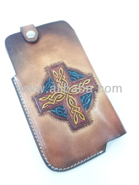 Hand Paint Leather Phone Case for Samsung