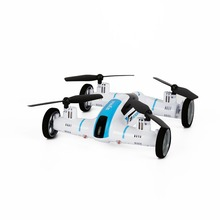 White Syma X9 2.4G 4CH 4-axle Gyro 360 Degree Flip Flying Quadcopter Car Remote Control Car