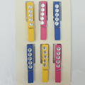 Decorative wooden clothespins with gems wooden pegs