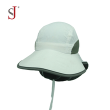 Sun Shade Cap Neck Cover Fishing Cap Face Cap Back Flap Hat With String