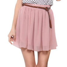 Candy Color New Cute Young Girl Summer Short Skirt Women Skirts 2017 High Waist double-layer Chiffon Female Casual skirts Womens
