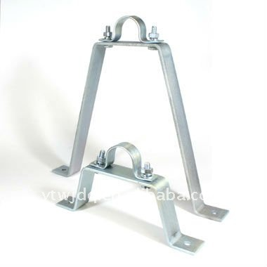 Metal brackets for pipe , Metal sliding wall bracket