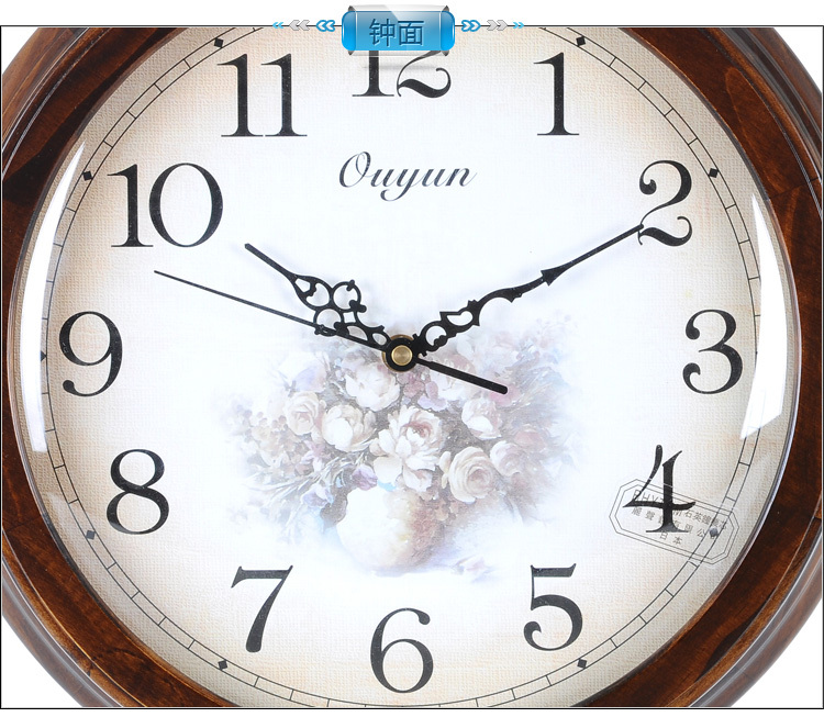 Wooden Decorative Wall Clock Antique Wrist Watch Wall Clock