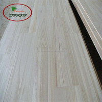 Seamless splice paulownia finger jointed panel for furniture wood