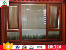 Aluminium casement window with blinds