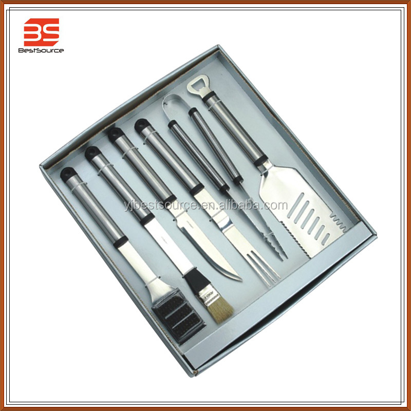 2015 Hot Sale Portable Korea BBQ/Barbecue Tool Set/Stainless Steel/Gift Box