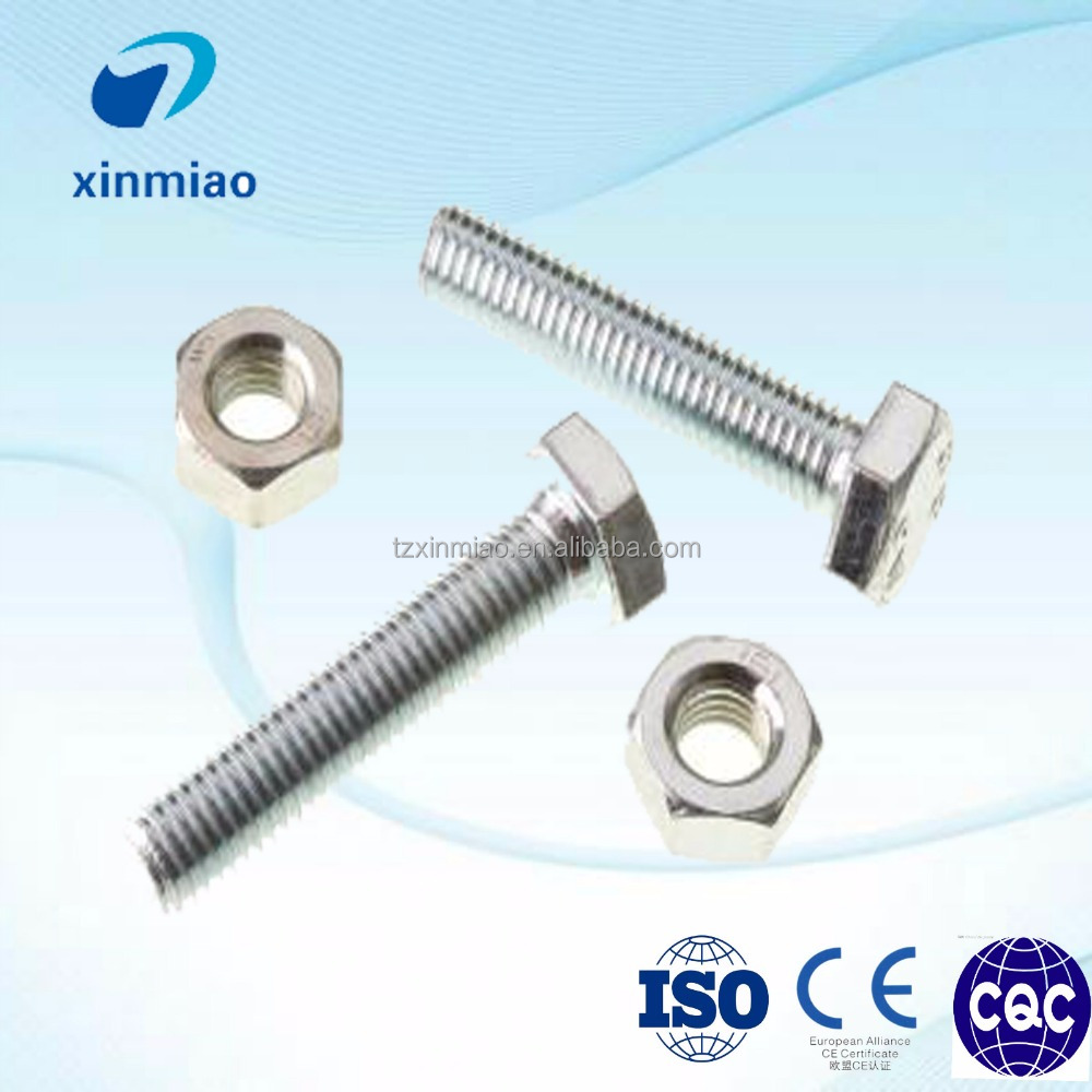 high strength 304 stainless steel galvanized bolts and nuts