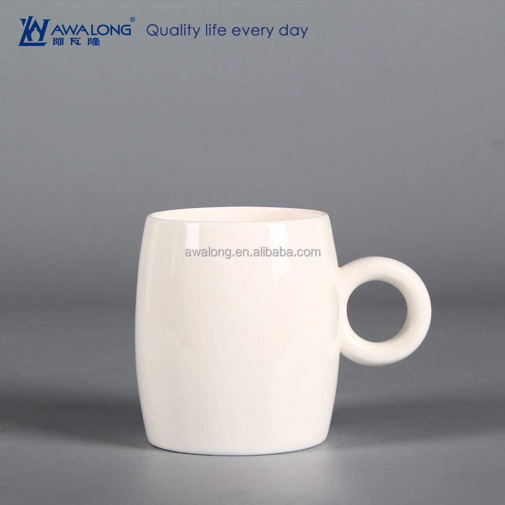 Large Capacity Pure White Logo Customized Fine Ceramic Coffee Mugs 15oz, Hot Sale Cheap Plain Ceramic Mugs