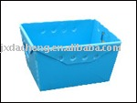 Blue Corrugated Plastic Box