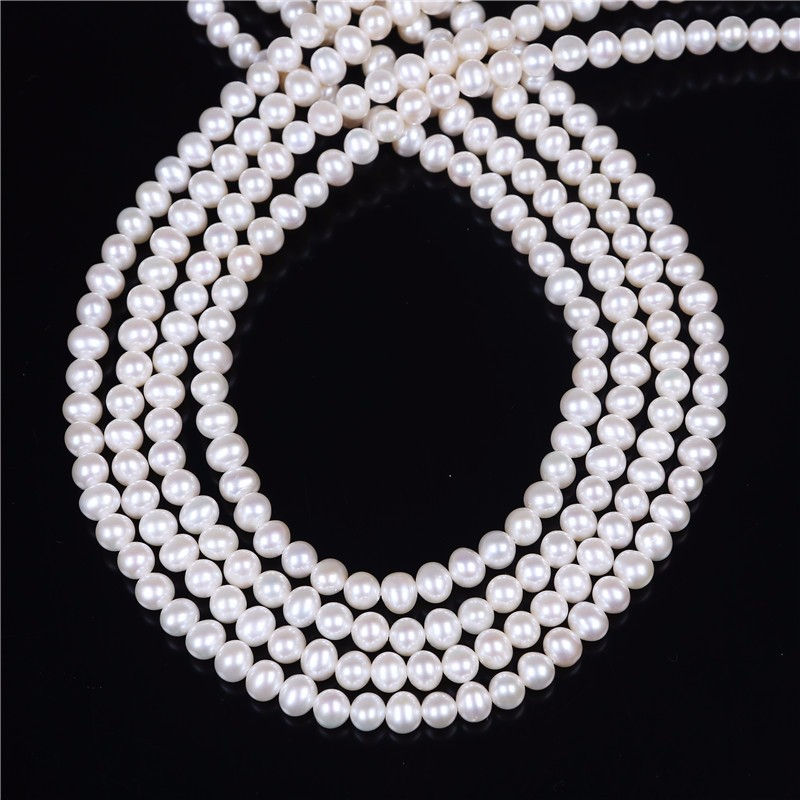 Wholesale 5-6mm potato shape fresh water pearls strand