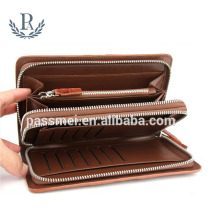 Crocodile genuine leather custom high quality business card holder rfid cellphone clutch and wallet