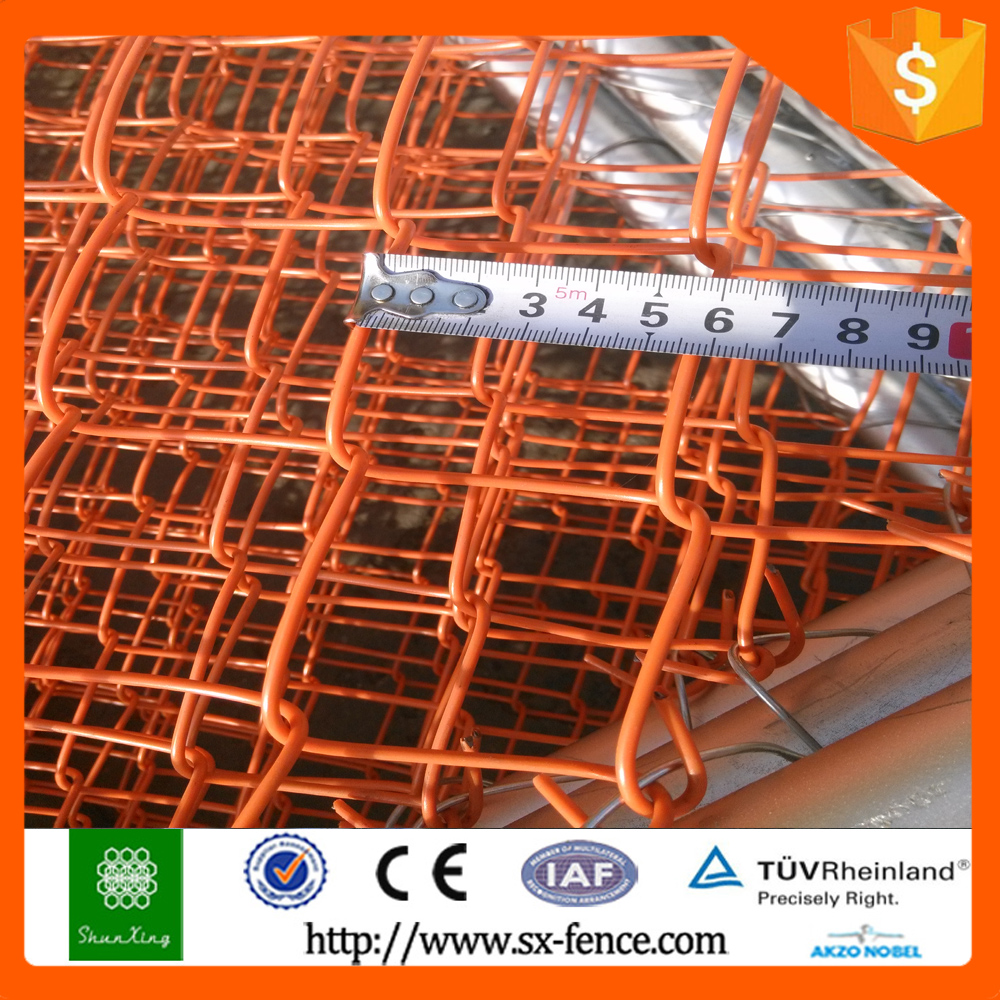 China High security plastic chain link fence