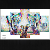Cartoon Abstract Elephant Pictures Printed Digital Prints On Canvas