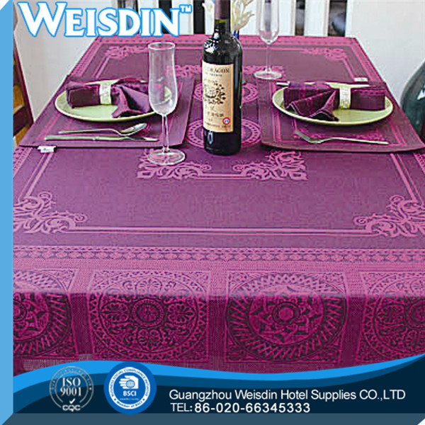 100% Bamboo Fiber manufacter square vinyl tablecloth with flannel back