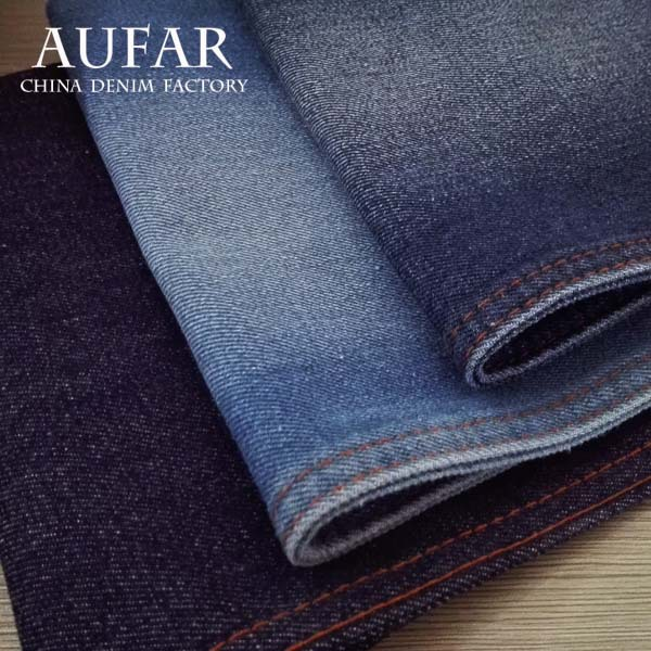 5231B51 denim jeans fabric manufacturers!Weave cotton poly satin soften denim fabric for women jeans