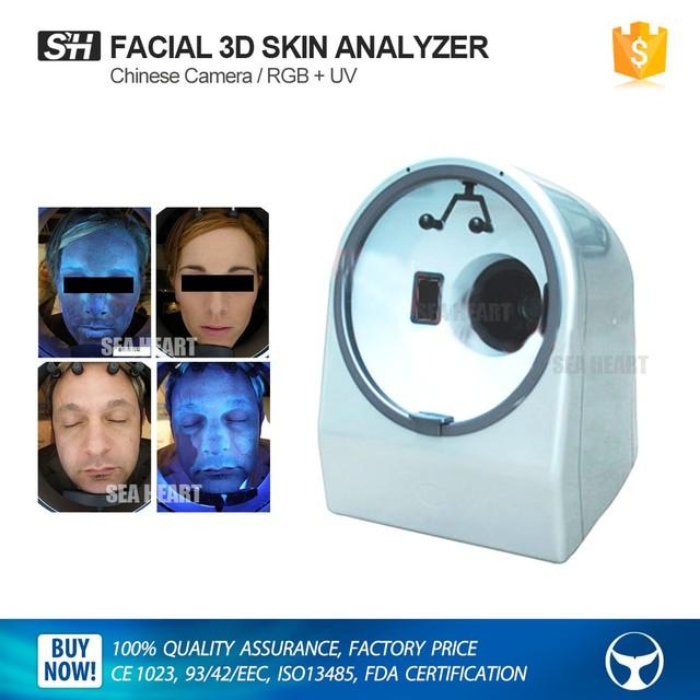 Mini portable beauty equipment magic mirror face skin analyzer machine with RGB / UV spectrum