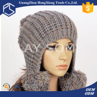 Winter outdoor ski women ear flap ladies winter hat
