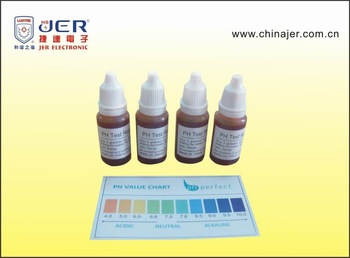 cheapest ph test water liquid with all English and color chart
