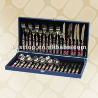 24 pcs stainless steel flatware set with color box