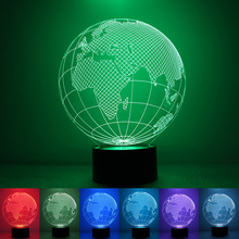 (High Quality) New Creative Products LED Night Light 3D Tellurian Globe Magic Table Lamp