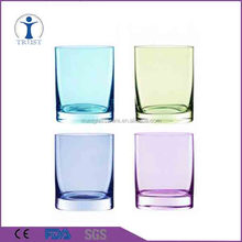 400ml European and American Style Set 4-Pieces Spray Colored Fashion Drinking Glass Tumbler