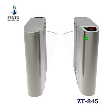 Turnstile gate ZT-845 flag barrier type rfid security barrier flag turnstile