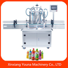 high efficiency automatic fruit juice bottle filler with PLC control penal